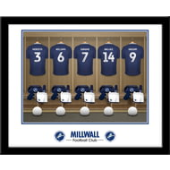 Personalised Millwall FC Dressing Room Shirts Framed Print