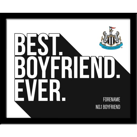 Personalised Newcastle United Best Boyfriend Ever 10x8 Photo Framed