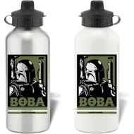 Personalised Star Wars Boba Pop Art Aluminium Aluminium Sports Water Bottle