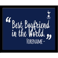 Personalised Tottenham Hotspur FC Best Boyfriend In The World 10x8 Photo Framed