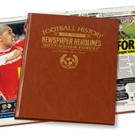 Personalised Nottingham Forest Football Newspaper Book - Leatherette Cover