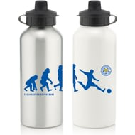 Personalised Leicester City Player Evolution Aluminium Sports Water Bottle