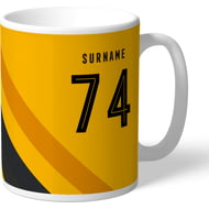 Personalised Wolves FC Stripe Mug
