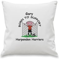 Personalised Born To Support Football Cushion