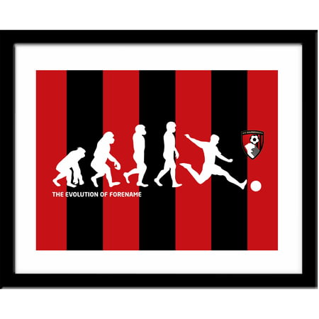 Personalised Bournemouth Evolution Framed Print