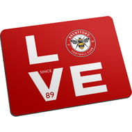 Personalised Brentford FC Love Mouse Mat