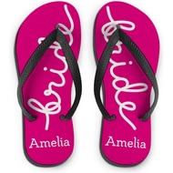Personalised Bride Medium Flip Flops