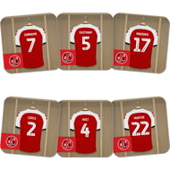 Personalised Fleetwood Town FC Dressing Room Shirts Coasters Set of 6