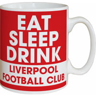 Personalised Liverpool FC Eat Sleep Drink Mug