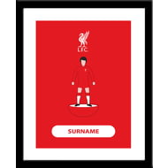 Personalised Liverpool FC Player Figure Framed Print