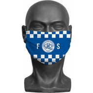 Personalised Queens Park Rangers FC Initials Adult Face Mask