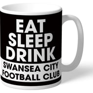 Personalised Swansea City AFC Eat Sleep Drink Mug