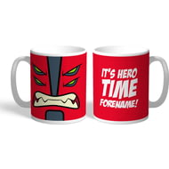 Personalised Ben 10 Four Arms Flat Hero Time Mug