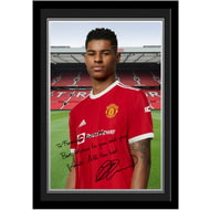 Personalised Manchester United FC Rashford Autograph Photo Framed