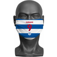 Personalised Queens Park Rangers FC Back Of Shirt Adult Face Mask