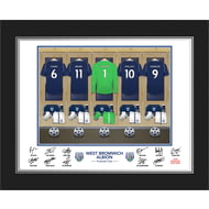 Personalised West Bromwich Albion FC Goalkeeper Dressing Room Shirts Photo Folder