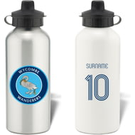 Personalised Wycombe Wanderers Retro Shirt Aluminium Sports Water Bottle