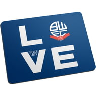 Personalised Bolton Wanderers Love Mouse Mat