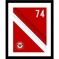 Personalised Brentford Stripe Framed Print