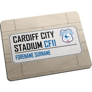 Personalised Cardiff City FC Street Sign Mouse Mat