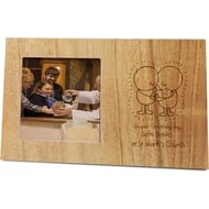 Personalised Chilli And Bubbles Christening Wooden Panel Photo Frame
