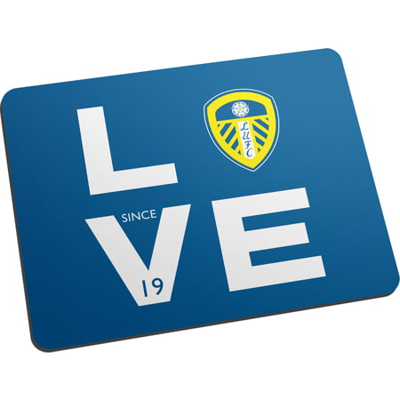 Personalised Leeds United Love Mouse Mat