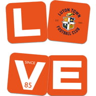 Personalised Luton Town FC Love Coasters (x4)