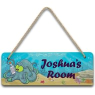 Personalised Underwater Adventure Octopus Hanging Sign