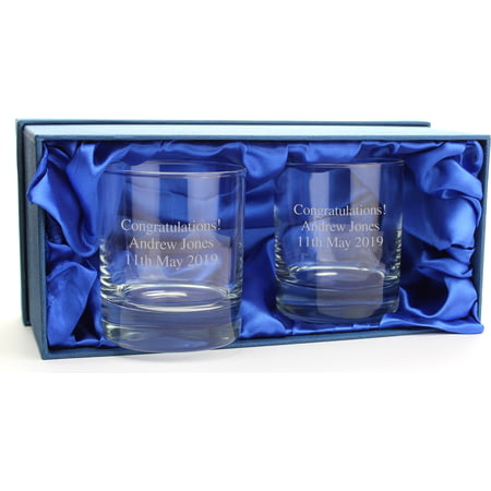 Personalised Whisky Glass Tumblers Set of 2