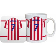 Personalised Stoke City FC Shirt Mug & Coaster Set