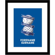Personalised Birmingham City Bold Crest Framed Print