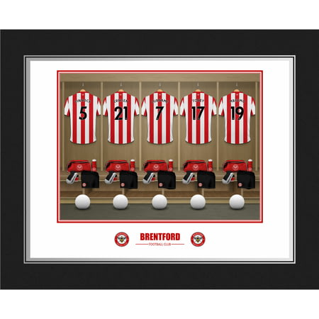 Personalised Brentford FC Dressing Room Shirts Photo Folder