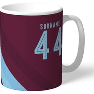Personalised Burnley Stripe Mug