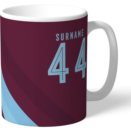 Personalised Burnley FC Stripe Mug