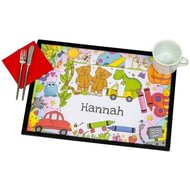 Personalised Cartoon Characters - Laminate Mat