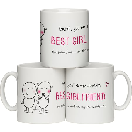 "Personalised Chilli And Bubble's ""Best Girlfriend"" Ceramic Mug"