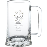 Personalised Chilli & Bubble's Congratulations Glass Stern Tankard