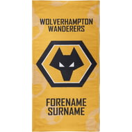 Personalised Wolves Crest Bath Towel - 70cm X 140cm