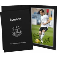 Personalised Everton FC Baines Autograph Photo Folder