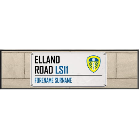 Personalised Leeds United FC Street Sign Large Bar Runner