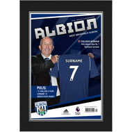 Personalised West Bromwich Albion FC Magazine Front Cover Photo Folder