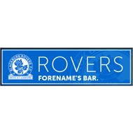 Personalised Blackburn Rovers Crest Large Rubber Bar Runner