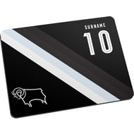 Personalised Derby County Stripe Mouse Mat