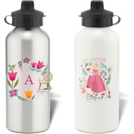 Personalised Disney Princess Aurora Initial Water Bottle