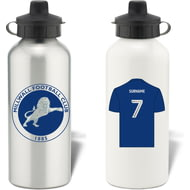 Personalised Millwall FC Shirt Aluminium Sports Water Bottle