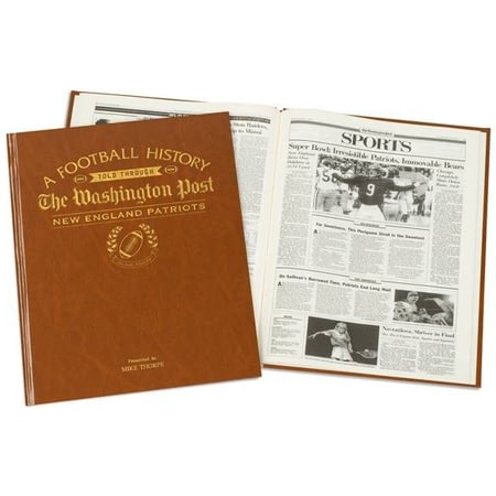 Personalised New England Patriots American NFL Football Newspaper Book