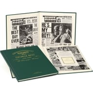 Personalised George Best Historic Newspaper Headlines Book