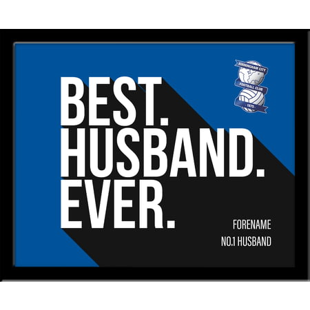 Personalised Birmingham City Best Husband Ever 10x8 Photo Framed