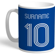 Personalised Chelsea FC Retro Shirt Mug