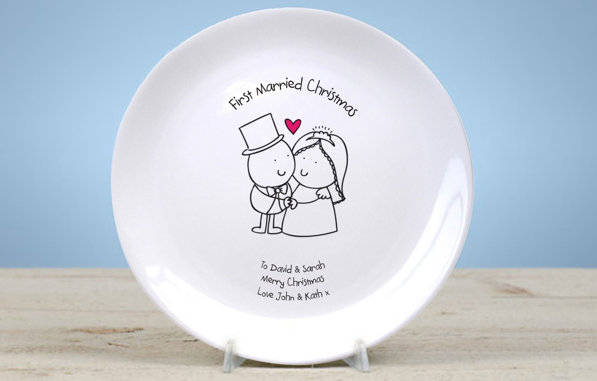 buy your personalised chilli bubble s first married christmas